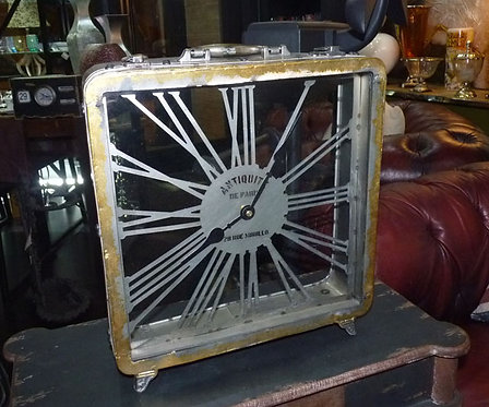 "PT62 Orologio In Metallo Valigetta""Metal Table Clock"" Industrial Chic"