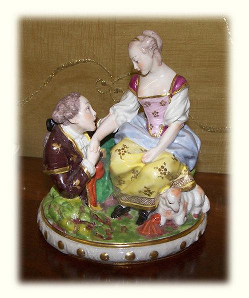 PR57 Gruppo Di Fine Porcellana Di Dresda