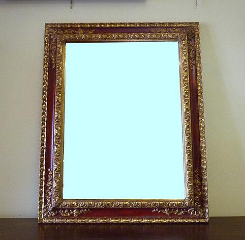 N.06 Specchiera Barocca In Foglia Oro