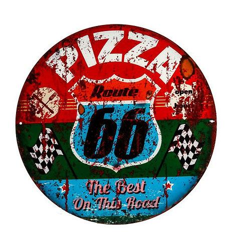 """MT223 Targa In Latta Tonda """"Pizza"""""""