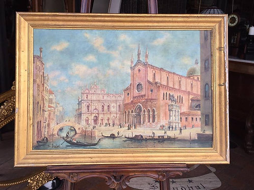 N.25DA Venezia olio su tela '800