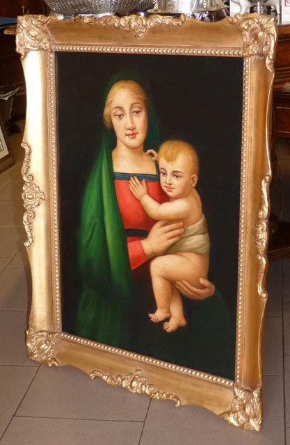 """N.48L Dipinto Olio Su Tela """"Maternità"""