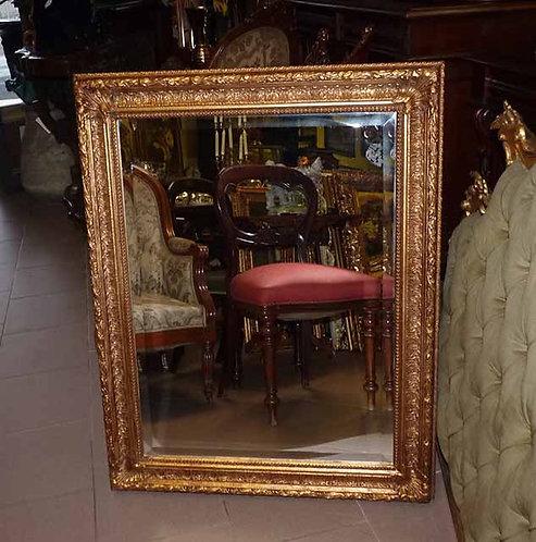N.08b Specchiera Barocca In Foglia Oro