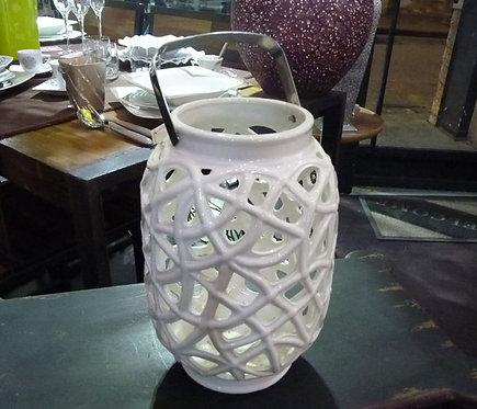 PT75 Lanterna In Ceramica Traforata Shabby Chic