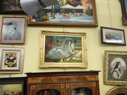 """N.12N """"Scuola di danza"""" Dipinto ad olio su tela"""