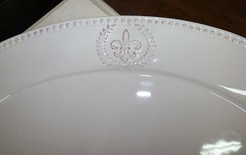 QQ82 Vassoio Florence In Ceramica Stile Shabby Chic  Q&Q