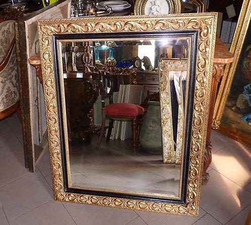 N.03 Specchiera Barocca con cornice in legno a foglia oro