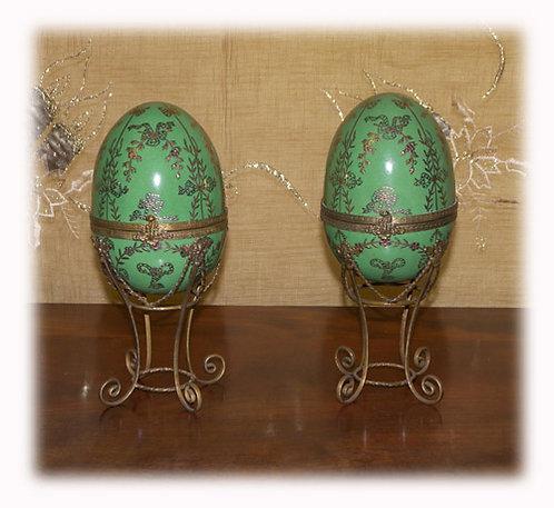 PR46 Uova Ornamentali In Porcellana