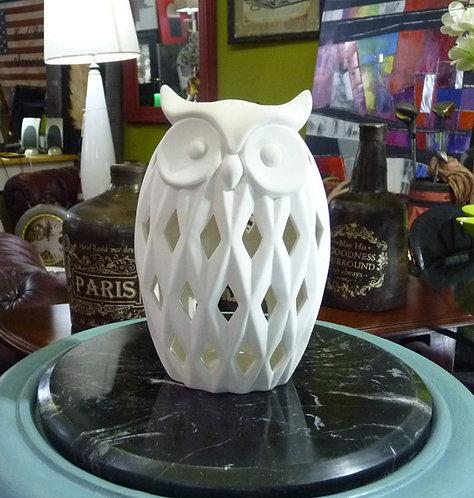 MF12 Gufo Porcellana Bianco Tolly Grande