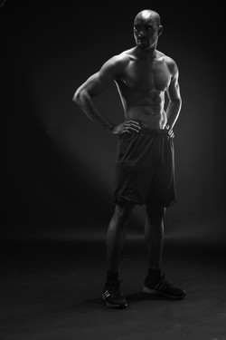 fitness male model topless
