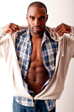 male model clothing shoot