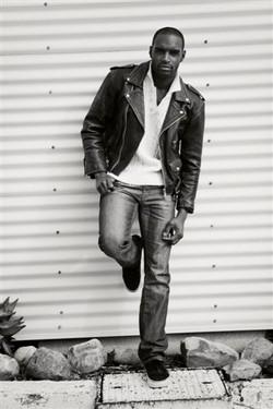 leather jacket shoot male model