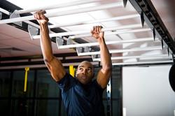 male fitness model gym photoshoot