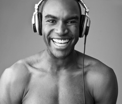 laughing male model photoshoot
