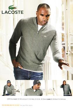 lacoste male model shoot