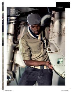 male model pilot fashion shoot