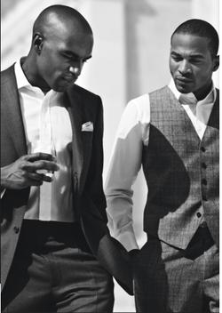 black male models drinking whisky