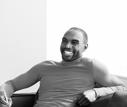 smiling male model photoshoot