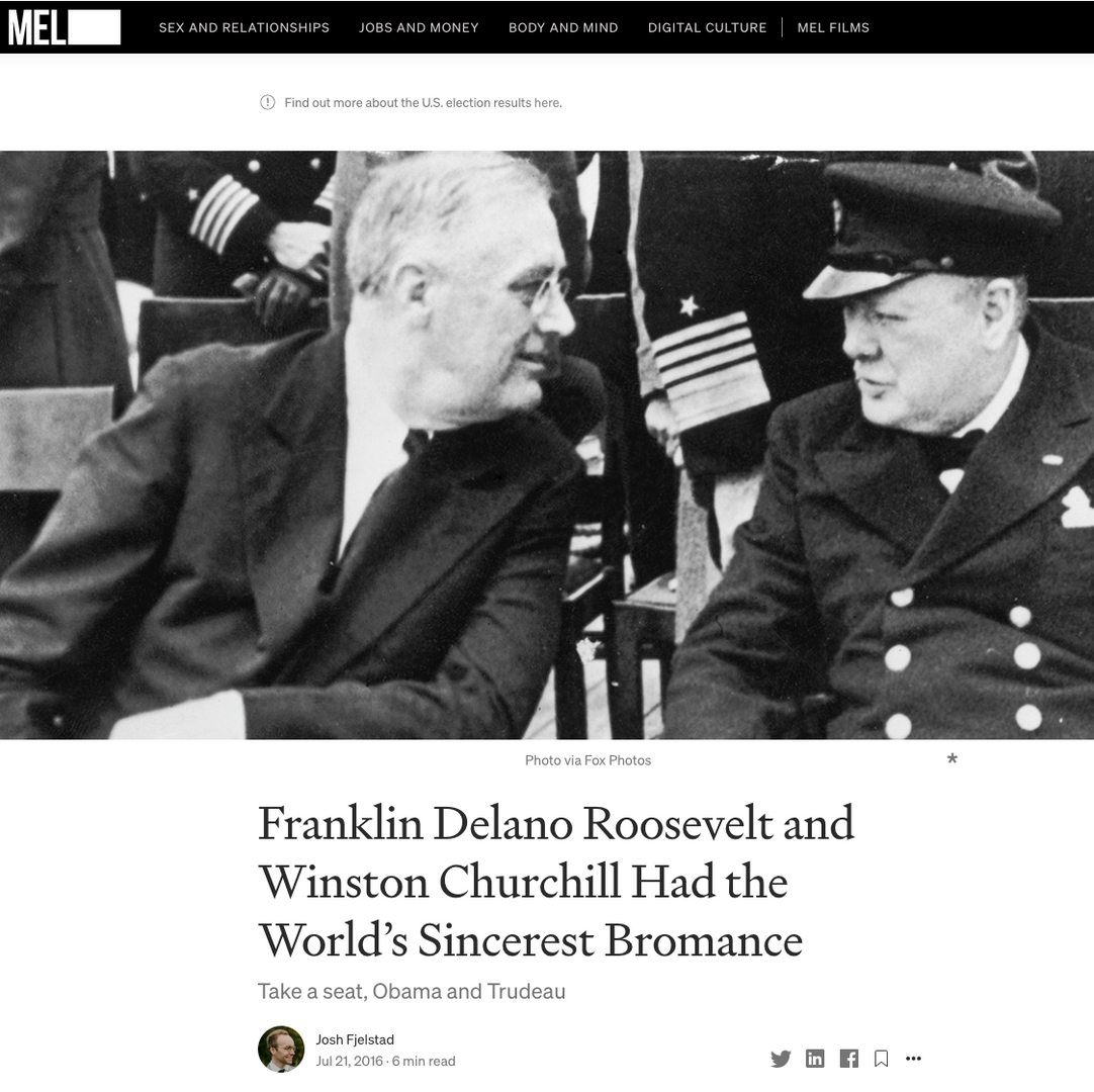 Franklin Delano Roosevelt and Winston Churchill Had the World's Sincerest Bromance
