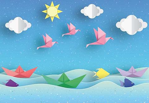 5224-4P-1 Paper Origami