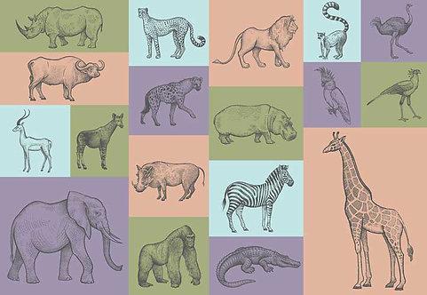5219-4P-1 Animal Illstrations
