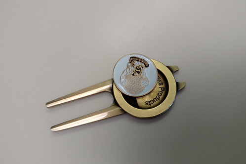 Olde Beau - Divot Tool with Ball Marker