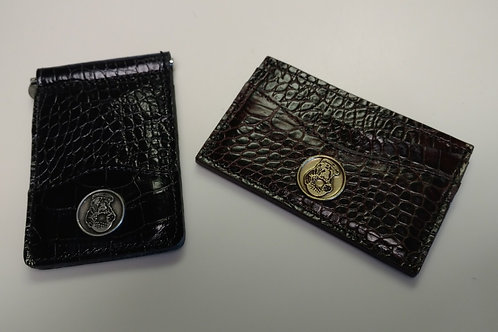 Olde Beau - Leather Money Clip/ Business Card Holder