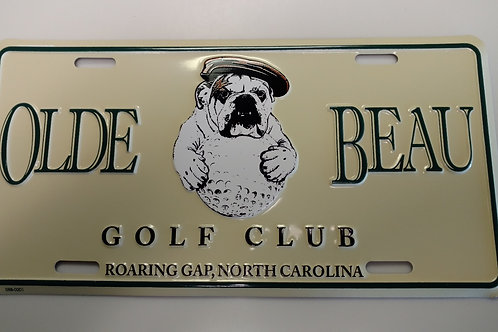 Olde Beau Car Plate