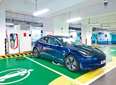Tesla 香港 V3 Supercharger 超級充電站
