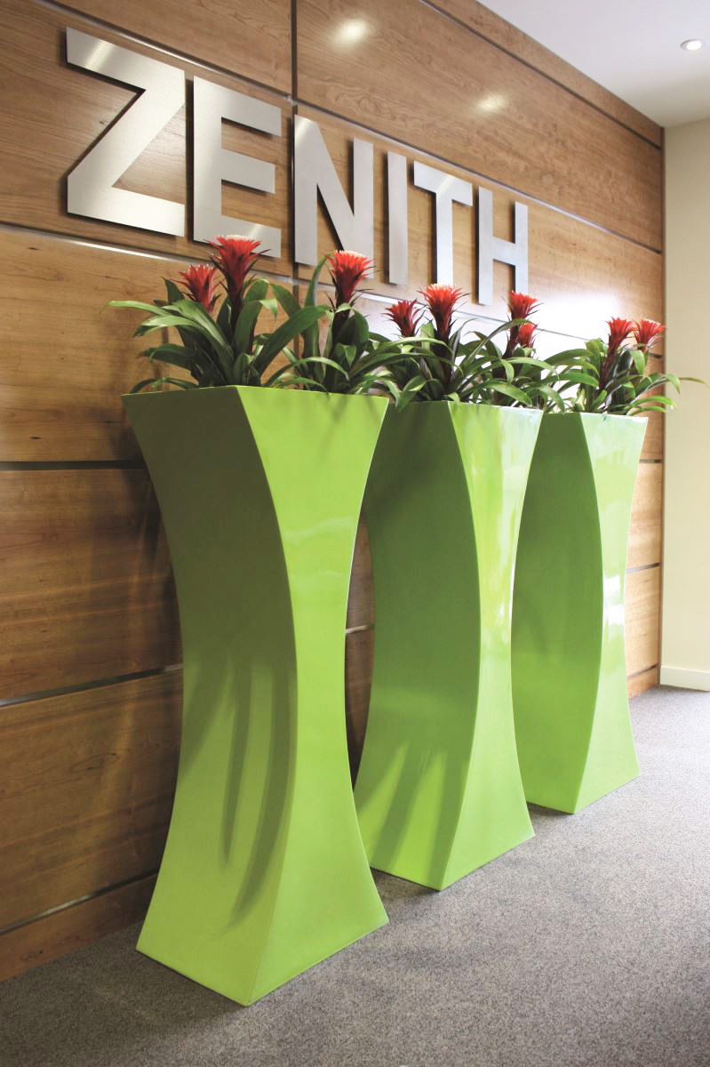 Curved Planters