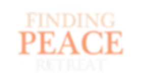 Finding Peace Retreat logo white letters