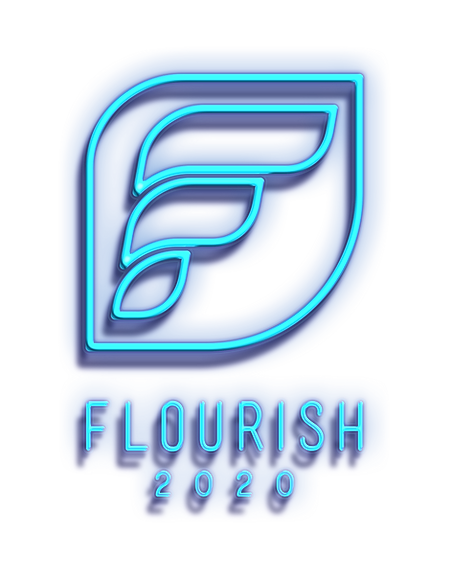Blue Flourish Conference Logo