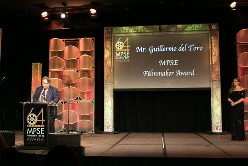 Guillermo del Toro receives the MPSE Filmmaker Award