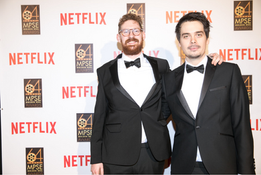 Zoltan Juhasz and Tom Jenkins on the red carpet of the 64th Golden Reel Awards