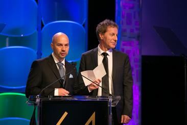 Liam Price presents the Verna Field Award