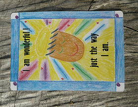 AFFIRMATION CARD PROMOTING SELF-ESTEEM AND SELF CONFIDENCE