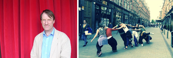 Tim Ingold and the Yorkshire Dance Company street performance.