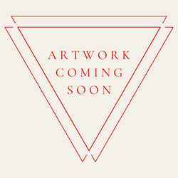 """Orange text reading """"artwork coming soon"""" inside two overlapping triangles."""