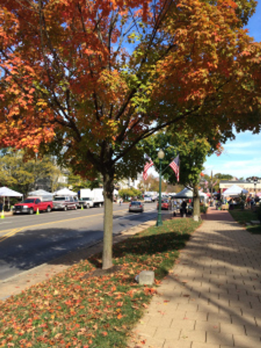 Fall Changes at the Worthington, Ohio Farmer's Market