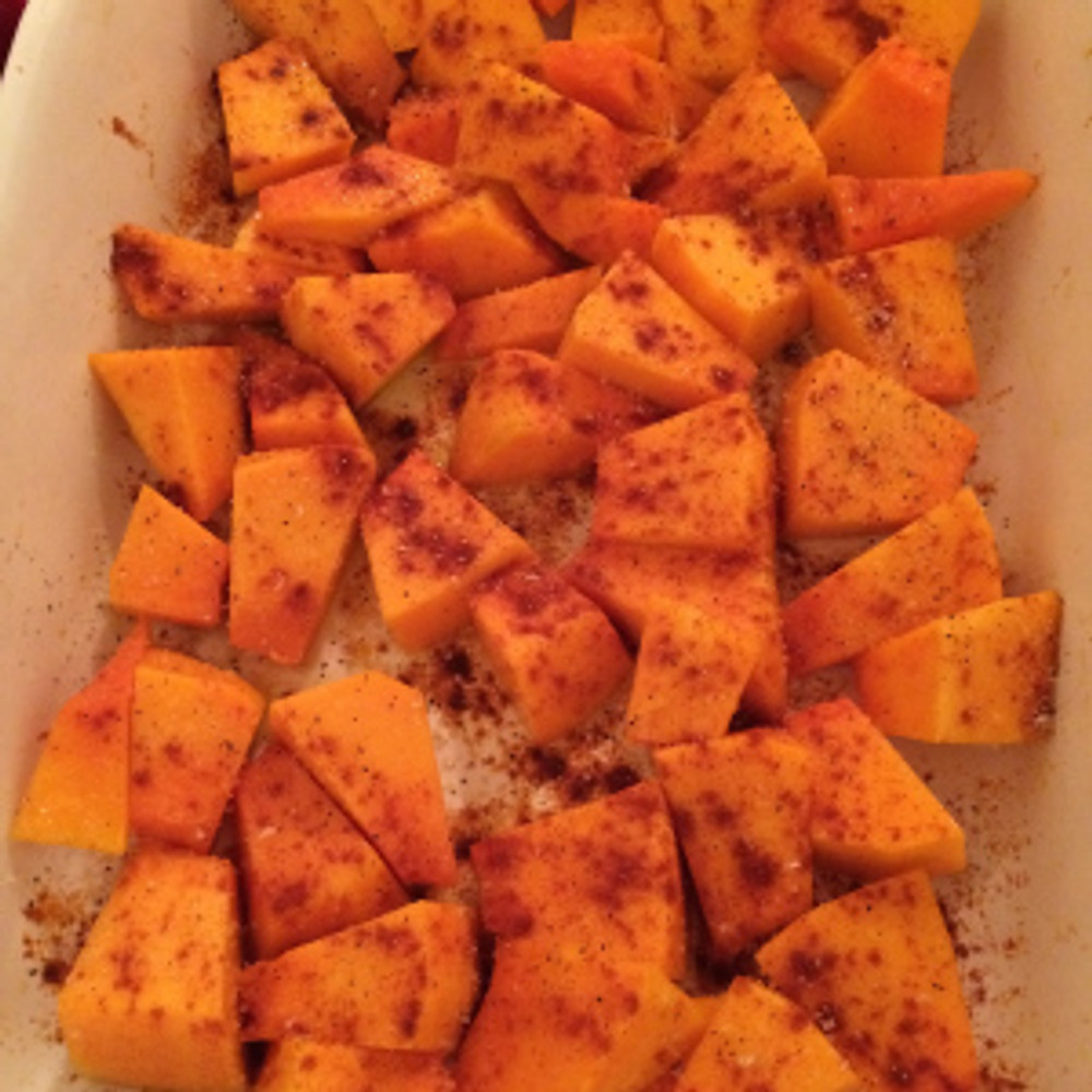 Butterkin Squash - ready to roast (400 degrees for 30-40 minutes)