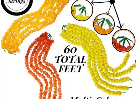 Marigold Life Orange Yellow and Dark Orange Marigold Garland Combo Pack