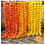Thumbnail: Marigold Life Dark Orange Artificial Marigold Garland