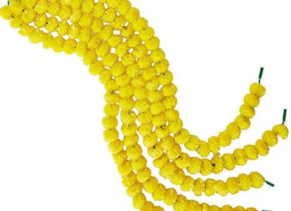 Marigold Life Yellow Artificial Marigold Garland