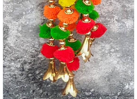 Marigold Life Gold Diwali Rainbow Boho pom pom garland
