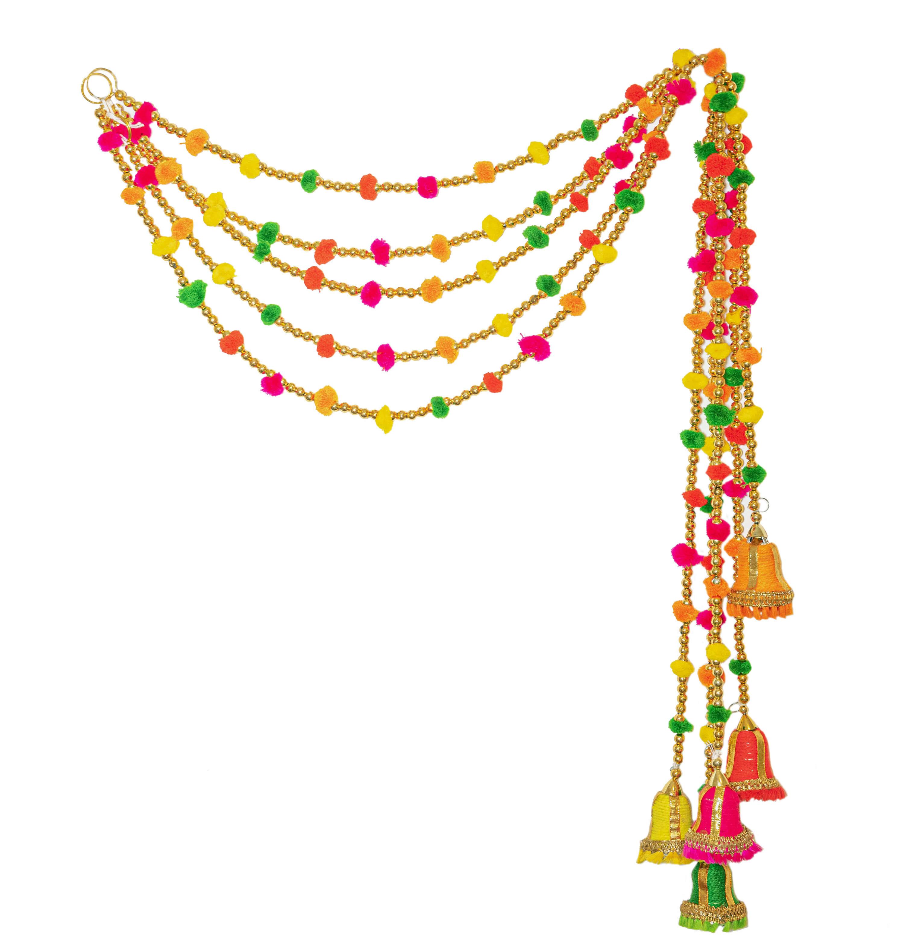 Marigold Life Indian Bell Rainbow 2 Boho Pom Pom Garland Marigold Life Shop