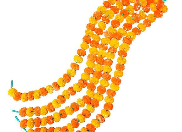 Marigold Life Mango and Orange Artificial Marigold Garland