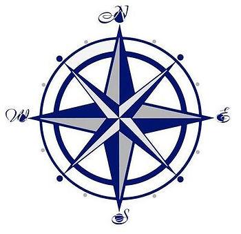 blue compass logo austin mcguire