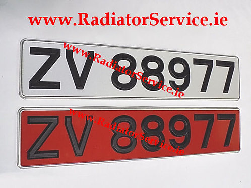 Plastic Black Digit Reflective Plates with Silver Trim