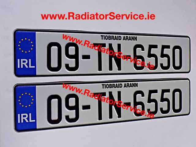 NCT Irish Number Plates Pressed that are road legal in Ireland are available from our web shop, @ ww