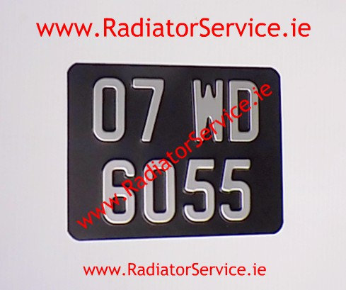 Motorcycle Pressed Plate 8 x 6ins Medium No's with a Colour Choice W14
